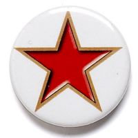 Red Star Button Badge</br>BA001